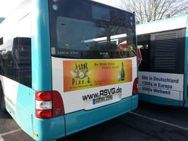 Plan-B Bus, Plan Bonn Werbung, Bus Werbung Disco